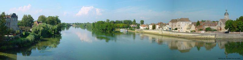 Vue Saône, Seurre