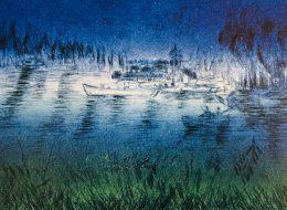 Tableau de Brigitte Camus, artiste aquarelle à l'Artisanerie de la Saône