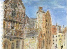 ableau de Brigitte Camus, artiste aquarelle à l'Artisanerie de la Saône