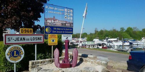 Saint-Jean-de-Losne, ville étape Compostelle