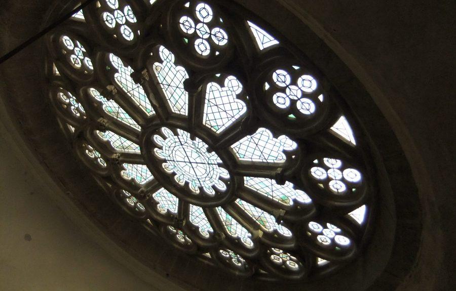 Rosace, église Saint-Martin à Seurre