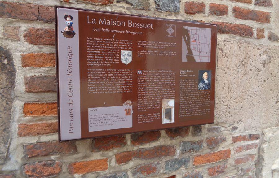 Panneau du patrimoine Jacquemart à Seurre