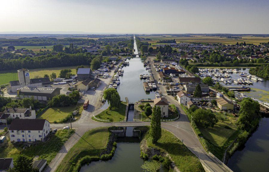 Vue du Ciel, V50 Saint-Jean-de-Losne