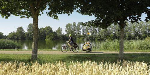 Voie bleue Moselle Saône® à vélo à Pagny-la-Ville