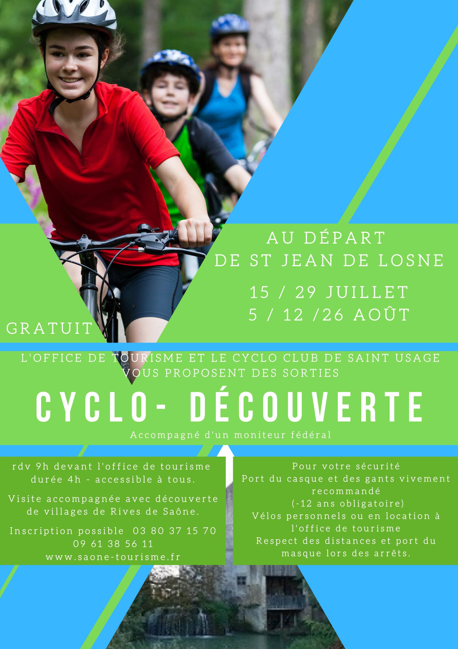 Affiche Cyclo-Découverte en Rives de Saône