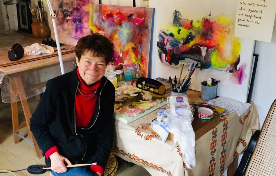 Brigitte Camus, artiste aquarelle à l'Artisanerie de la Saône