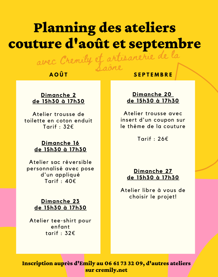 Planning atelier couture