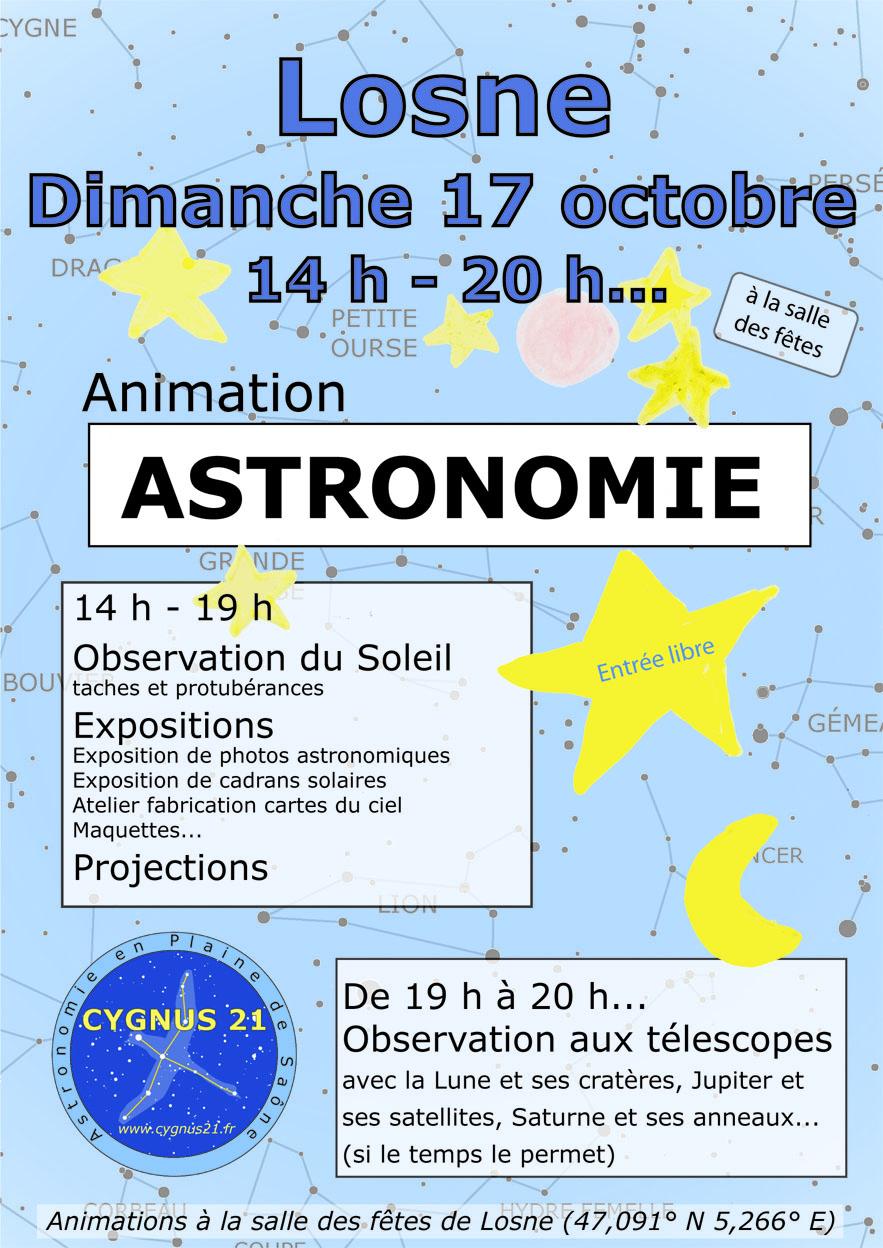 Astronomie Losne 17 octobre 2021 md